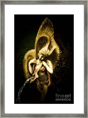 Angels Playing Music  Framed Print by Phaitoon Chooti