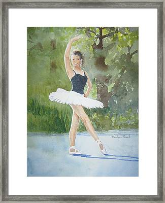 Angel's Pose Framed Print by Marilyn  Clement