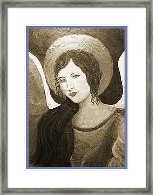 Angels Watching Over Me Framed Print by The Art With A Heart By Charlotte Phillips
