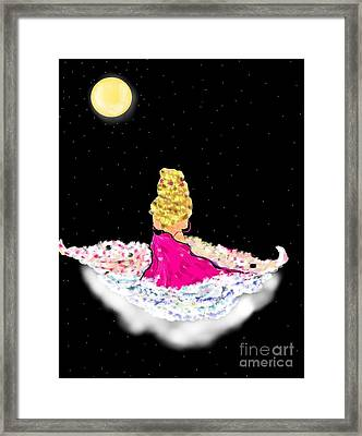 Framed Print featuring the painting Angelsheaven by Lori  Lovetere
