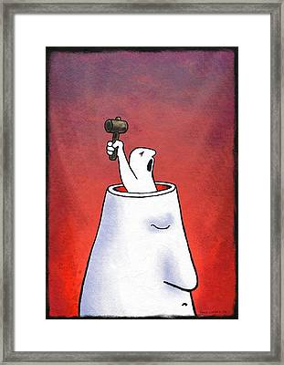 Anger, Conceptual Artwork Framed Print by David Gifford