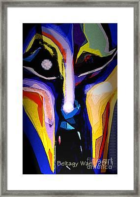 Anger Fcae Framed Print by Beltagy Beltagyb