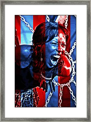 Framed Print featuring the photograph Anger In Red And Blue by Alice Gipson