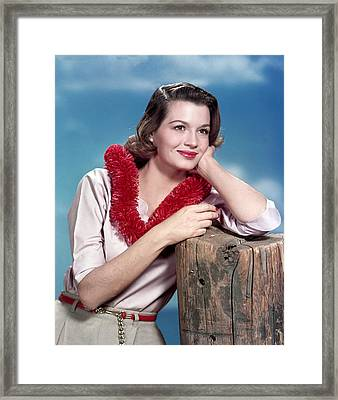 Angie Dickinson, Late 1950s Framed Print by Everett