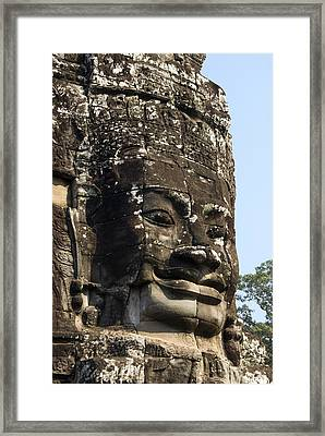 Angkor Thom Fae Framed Print by Gloria & Richard Maschmeyer