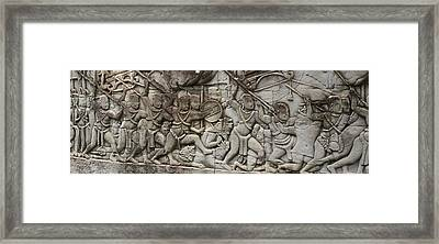 Framed Print featuring the photograph Angkor Wat - War Scene by Andrei Fried