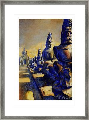 Angkor Wat Ruins Framed Print by Ryan Fox