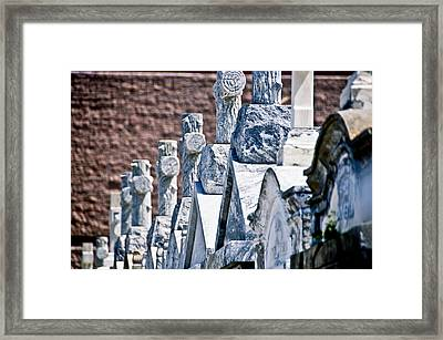 Angled Heahstones Framed Print by Ray Laskowitz