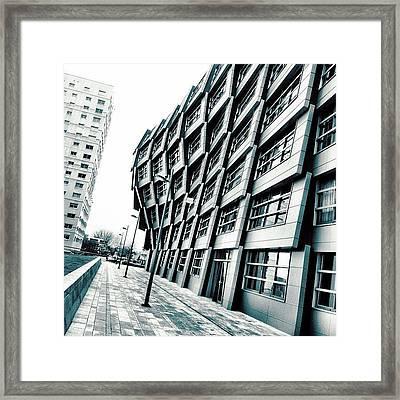 Angled Framed Print