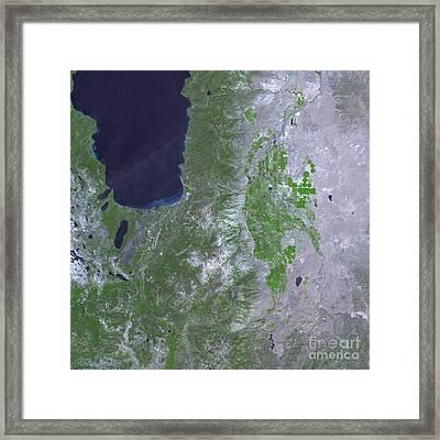 Angora Fire, South Of Lake Tahoe Framed Print