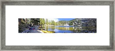 Angora Tranquility Base Framed Print
