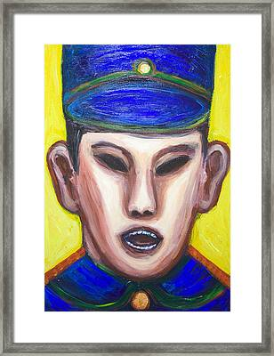 Angry Chinese Police Officer Framed Print by Kazuya Akimoto