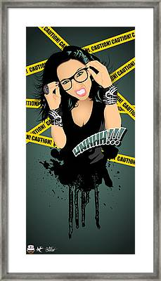 Angry Hipsters Are Sexy Framed Print by Devin Green