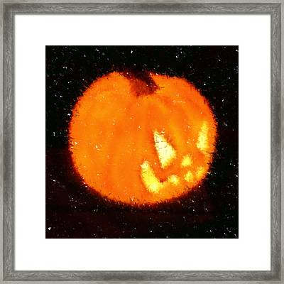Angry Pumpkin Framed Print by Richard De Wolfe