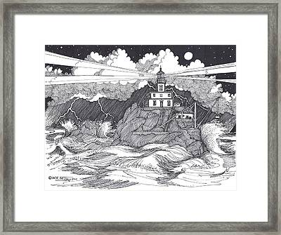 Angry Sea Framed Print by Bill Friday