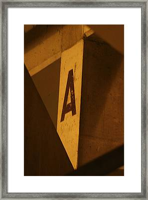 Angular A Framed Print by Artist Orange
