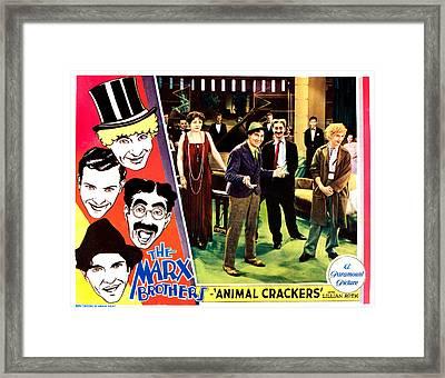 Animal Crackers, Left From Top Harpo Framed Print by Everett