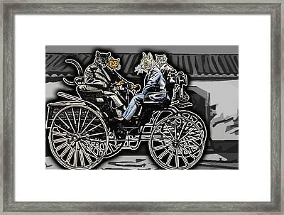 Animal Family 4 Framed Print by Travis Burns