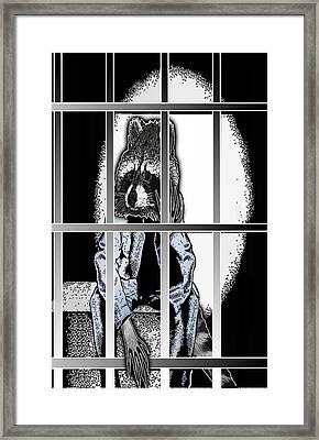 Animal Family 6 Robby Raccoon Framed Print by Travis Burns