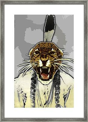 Animal Family 8 Chief Cheeta Framed Print by Travis Burns