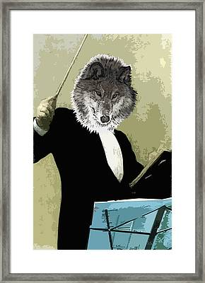 Animal Family 8 Wolf Composer Framed Print by Travis Burns