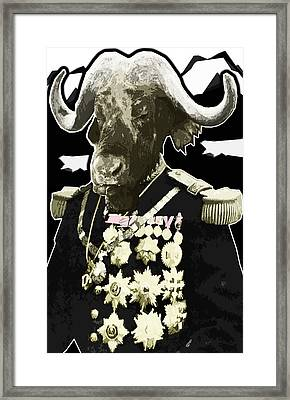 Animal Family 9 General Buffalo Framed Print by Travis Burns