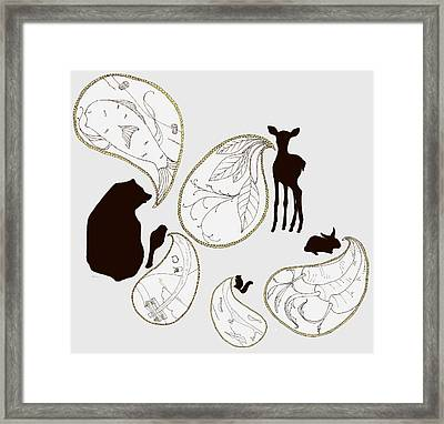 Animal Sounds Framed Print by Marcia Wood