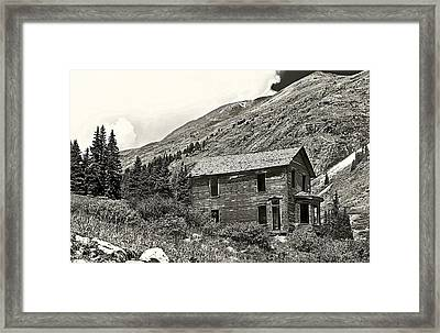 Animas Forks Ink Outline Framed Print by Melany Sarafis