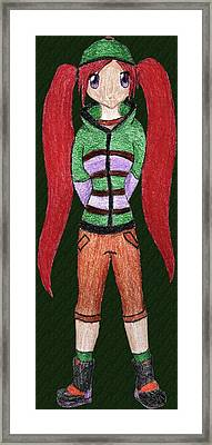 Anime 2 Framed Print by April McCallum