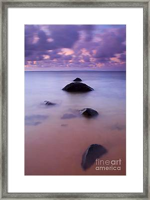 Anini Breeze Framed Print by Mike  Dawson
