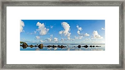 Anini Rockline Framed Print