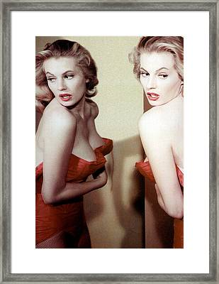Anita Ekberg, Circa Late. 1950s Framed Print by Everett