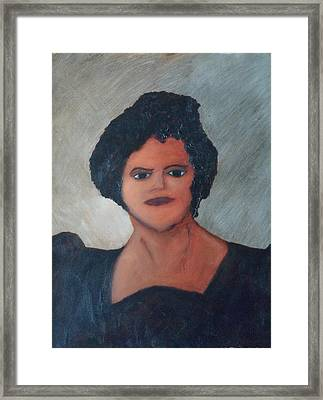 Framed Print featuring the painting Anita by Martin Blakeley