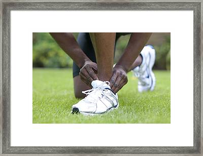 Ankle Injury Framed Print by