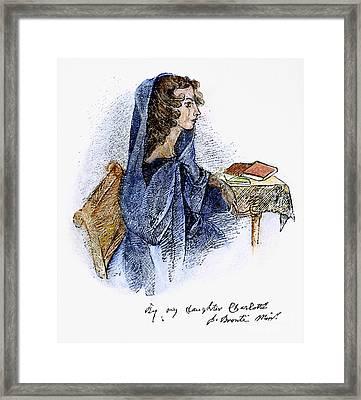 Ann Bronte (1820-1849) Framed Print by Granger