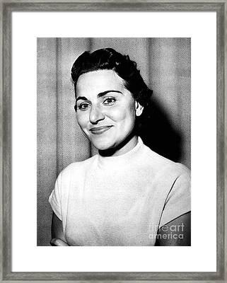 Ann Landers (1918-2002) Framed Print by Granger