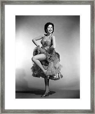 Ann Miller, 1955 Framed Print by Everett