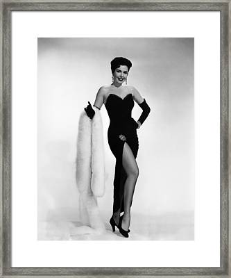 Ann Miller, Ca. 1950s Framed Print by Everett
