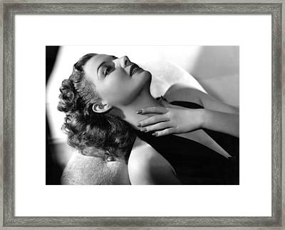 Ann Sheridan, Portrait, Circa 1940 Framed Print by Everett