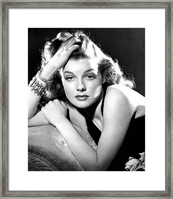 Ann Sheridan, Portrait Used Framed Print by Everett