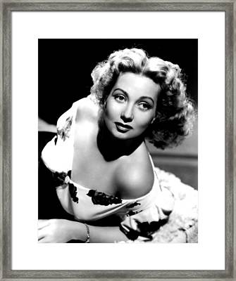 Ann Sothern, Portrait Promoting Framed Print by Everett