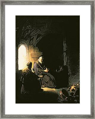 Anna And The Blind Tobit Framed Print by Rembrandt Harmensz van Rijn