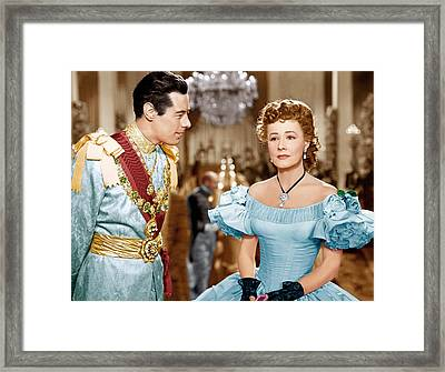 Anna And The King Of Siam, From Left Framed Print by Everett