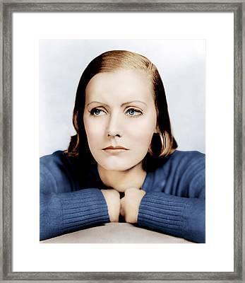 Anna Christie, Greta Garbo, Portrait Framed Print