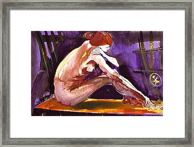 Anna Dreaming Of Love Framed Print by Ion vincent DAnu