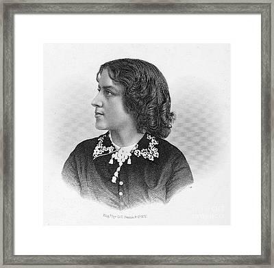 Anna Elizabeth Dickinson Framed Print by Granger
