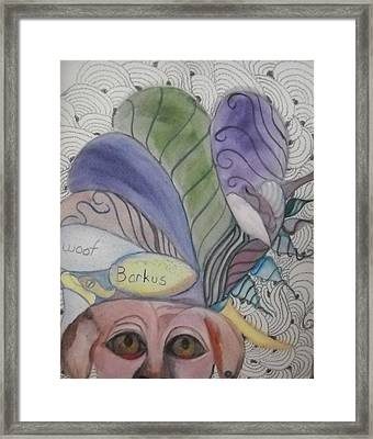 Anna Goes To Barkus Framed Print by Marian Hebert