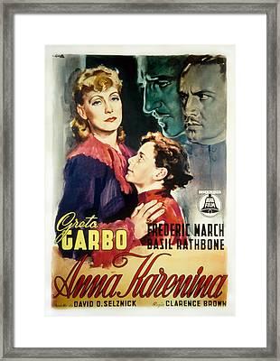 Anna Karenina, Poster Art, Greta Garbo Framed Print