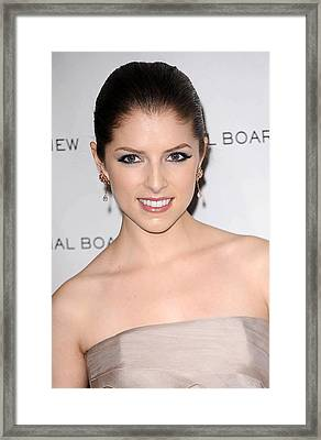 Anna Kendrick At Arrivals For The Framed Print