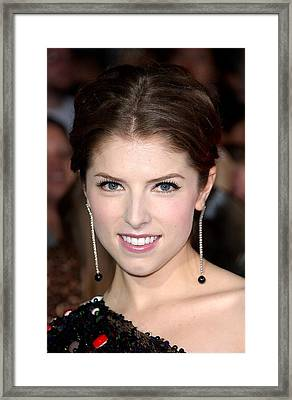 Anna Kendrick Wearing Neil Lane Framed Print